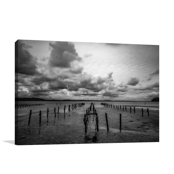 Australia Art Print Cloudy Sky Over Ocean