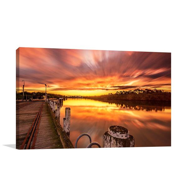 Australia Art Print Newington Ferry Wharf