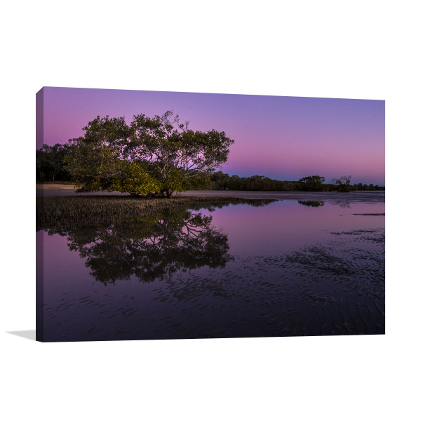 Australia Art Print Purple Sunrise