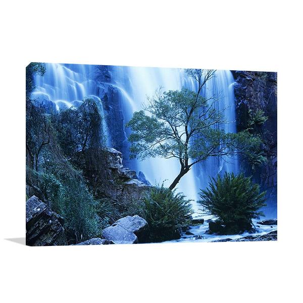 Australia Forest Waterfall Wall Print