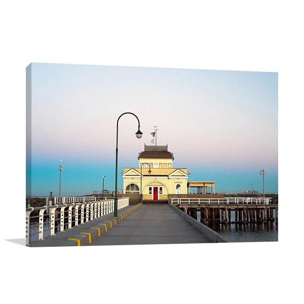 Australia St Kilda Pier Canvas Print