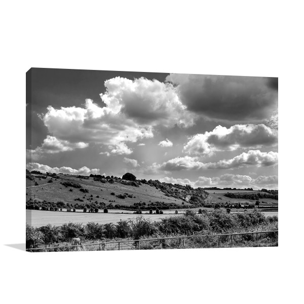 Australia Wall Art Print Black & White