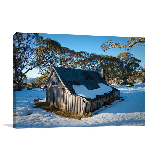 Australia Wallaces Hut Wall Canvas Print