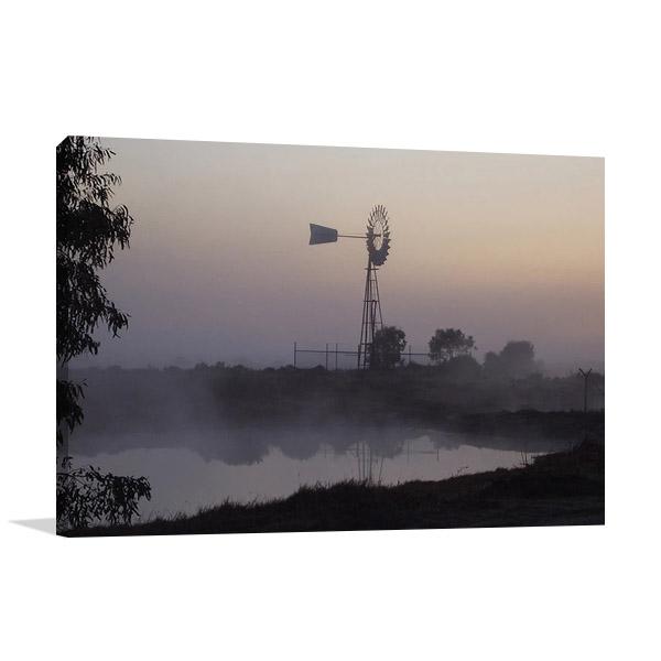 Australian Windmill Canvas Print