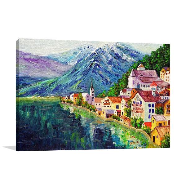 Austria Hallstatt Village Canvas Print