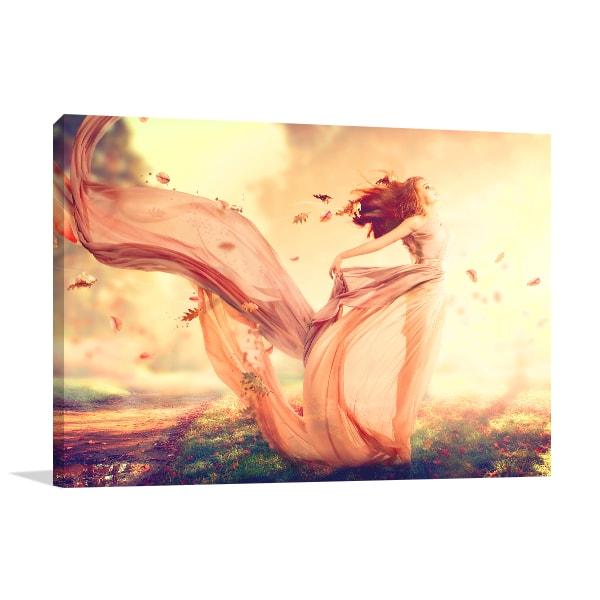 Autumn Fairy Canvas Art