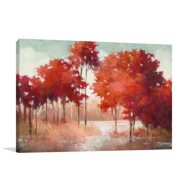 Autumn Lake Wall Art Print