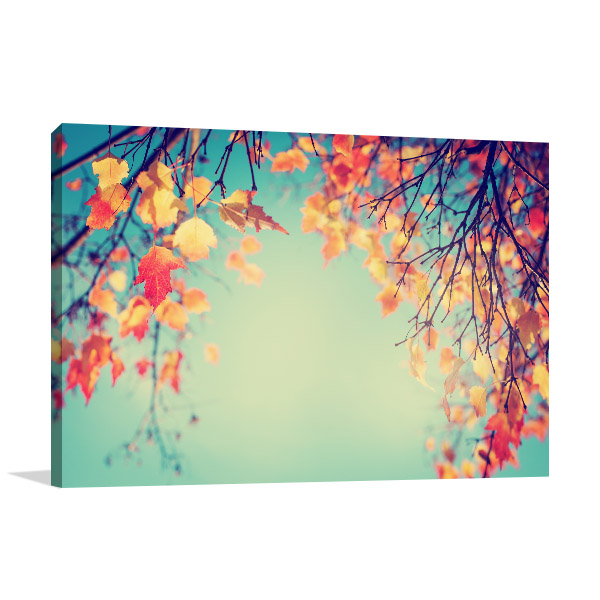 Autumn Leaves In Vintage Wall Art