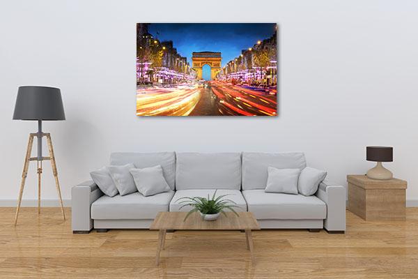Avenue des Champs-Elysees Prints Canvas