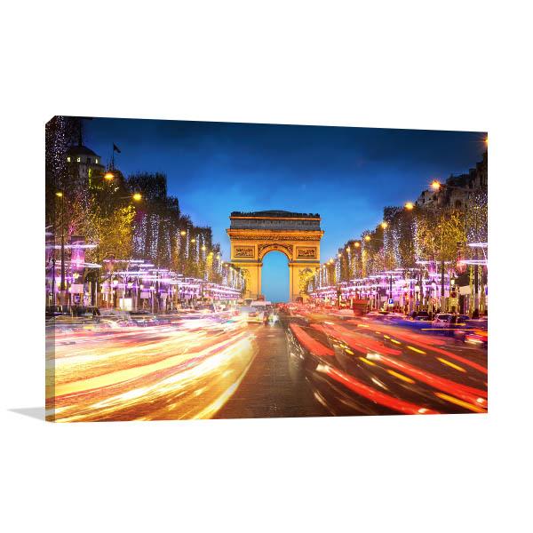 Avenue des Champs-Elysees Canvas Prints