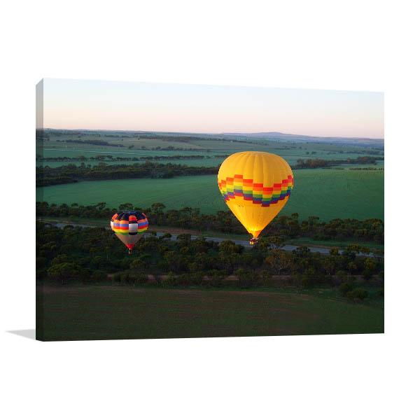 Avon Valley Perth Art Print Hot Balloon Prints Canvas
