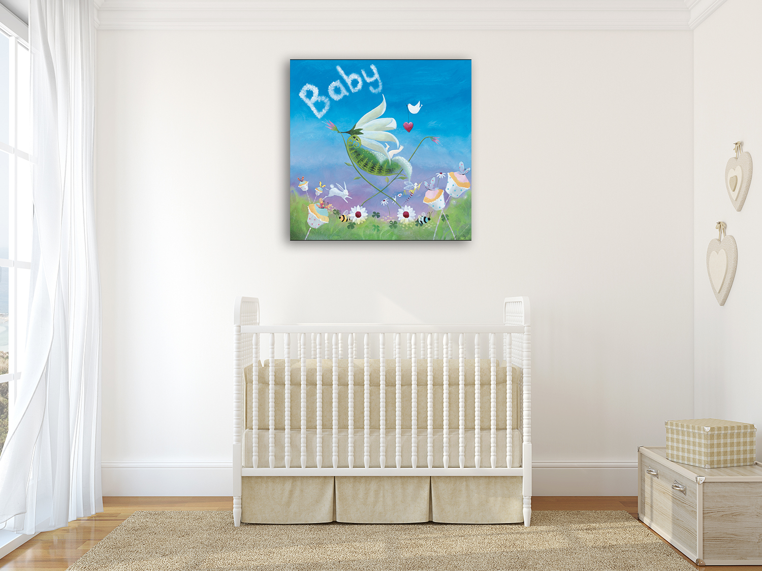 Simple Baby Canvas Art