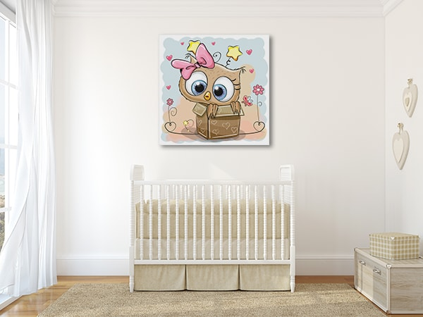 Baby Owl Canvas Prints