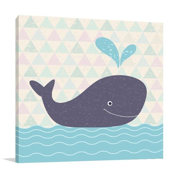 Baby Whale Print Artwork