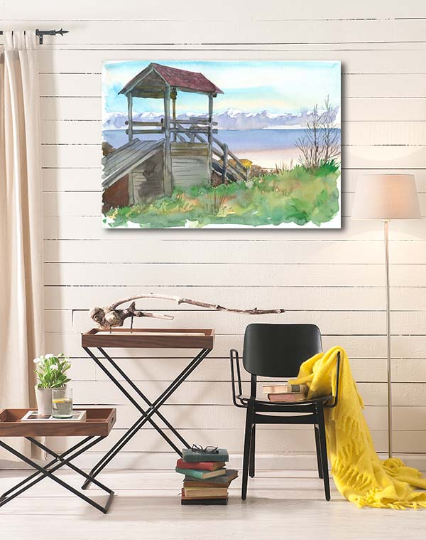 Baikal Village Art Prints