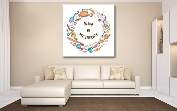 Baking Is My Theraphy Canvas Prints