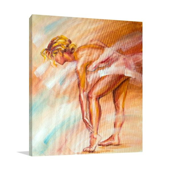 Ballerina Stretching Prints Canvas
