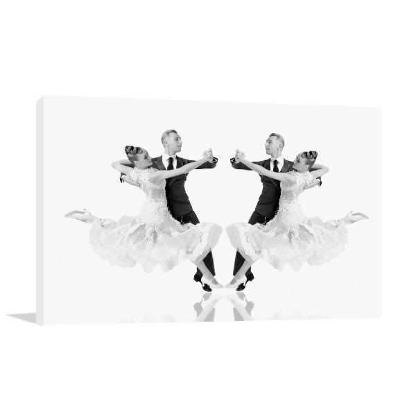 Ballroom Dance Couple Print Artwork