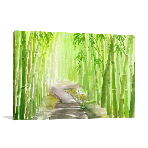Bamboo Path Alley Wall Art