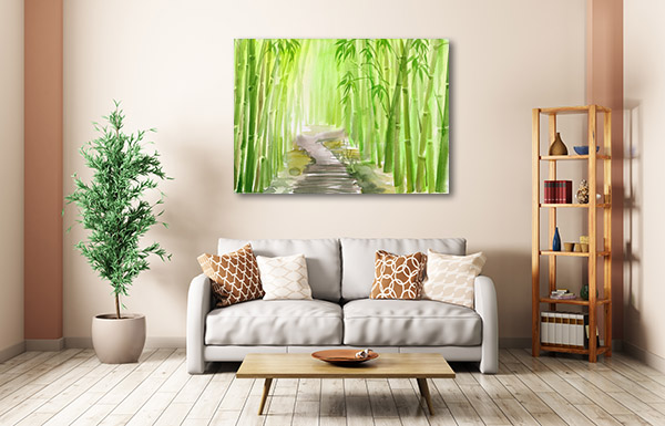 Bamboo Path Alley Art Prints
