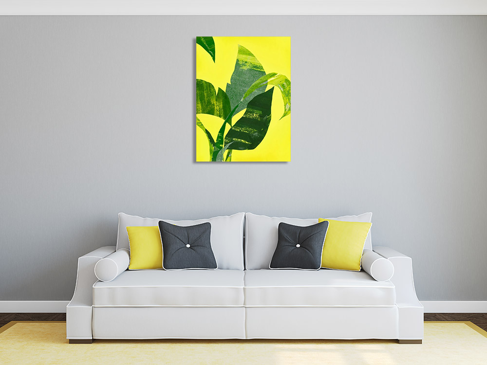 Tropical Yellow Canvas Print