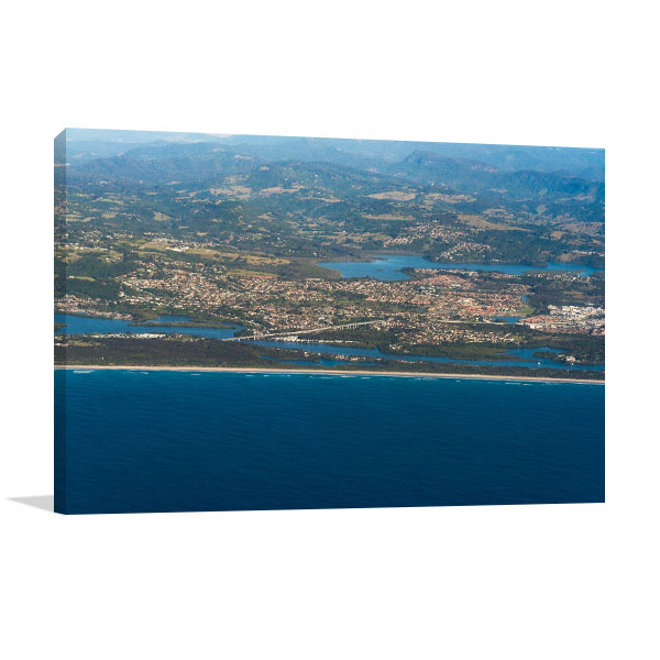 Banora Point Art Print Aerial View