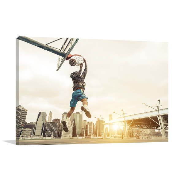 Basketball Street Player Art Prints