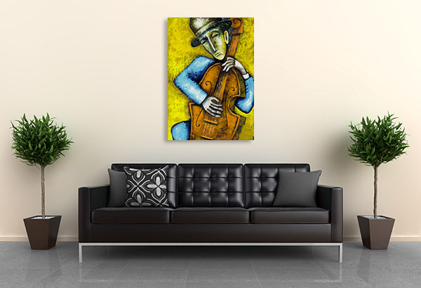 Bass Player Canvas Art
