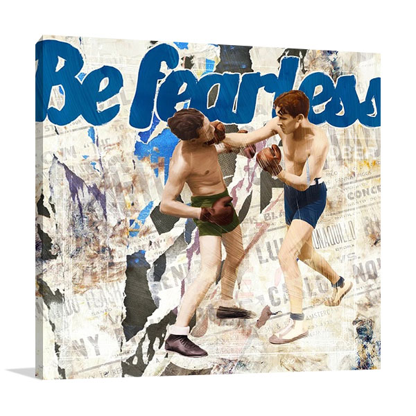 Blue Sports Canvas Art Print