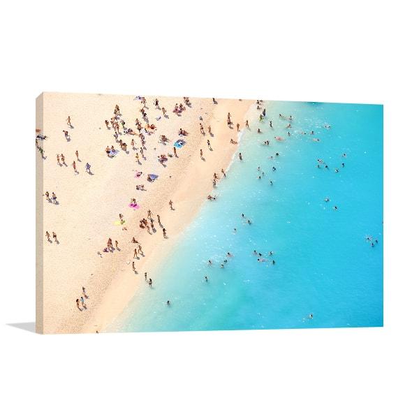 Beach Aerial View Canvas Prints