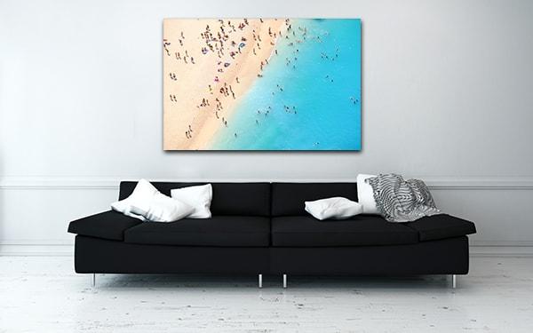 Beach Aerial View Art Prints