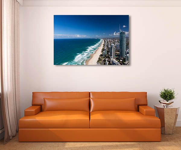 Beach and Skyscrapers Gold Coast Canvas Art