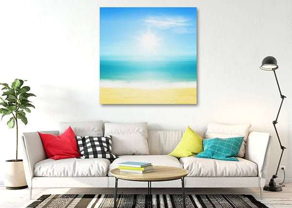 Beach and Sun Canvas Prints on the Wall
