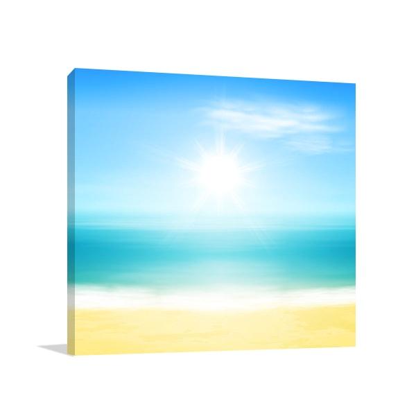 Beach and Sun Artwork