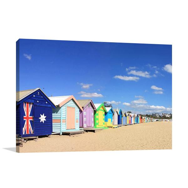 Beach Boxes Melbourne Australia Print