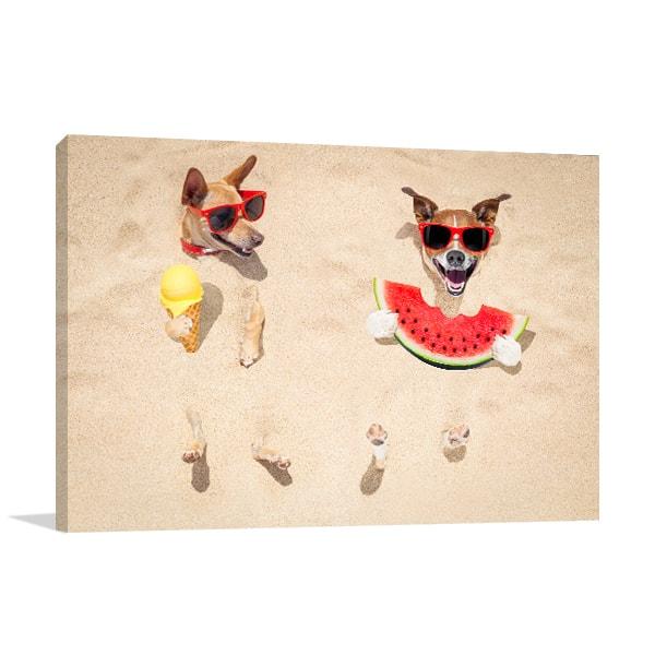 Beach Buddies Prints Canvas