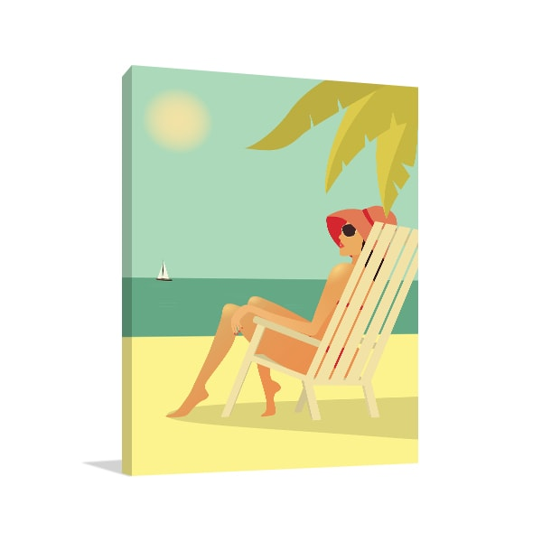 Beach Girl Art Prints
