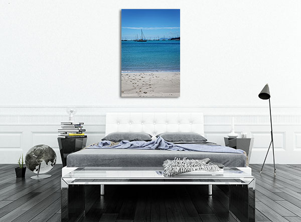 Beach on the coast in Mackay Canvas Prints