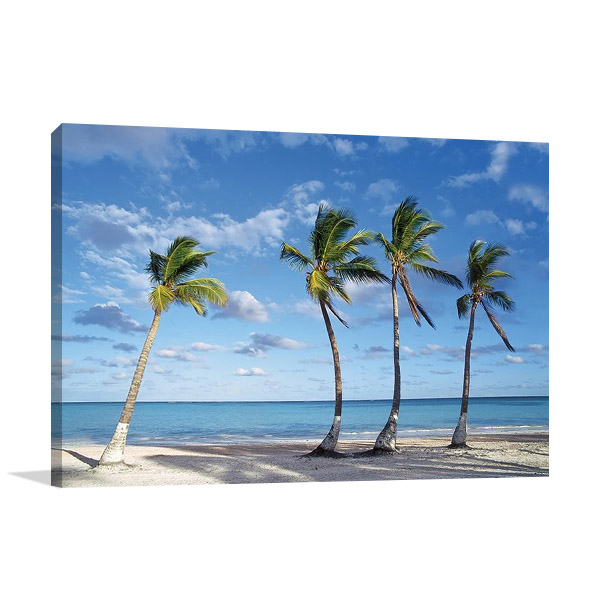 Beach Palm Trees Wall Print