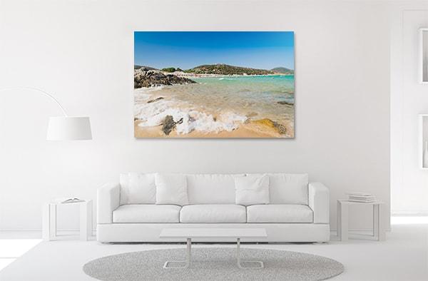 Beach Panorama Wall Art on the wall