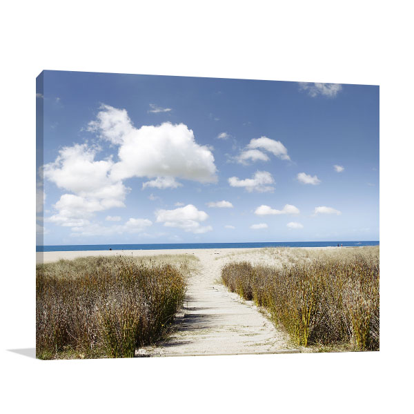 Beach Trailway Canvas Art