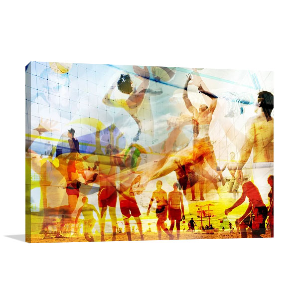 Beach Volleyball II Print Canvas