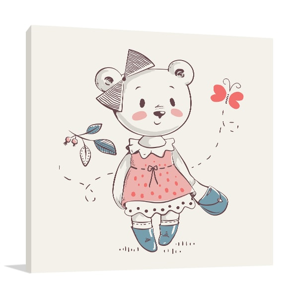 Bear in Dress Wall Art