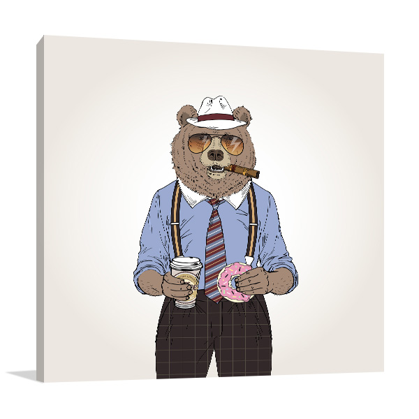 Bear Investigator Prints Canvas