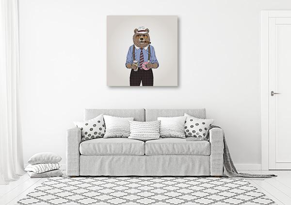 Bear Investigator Print Artwork