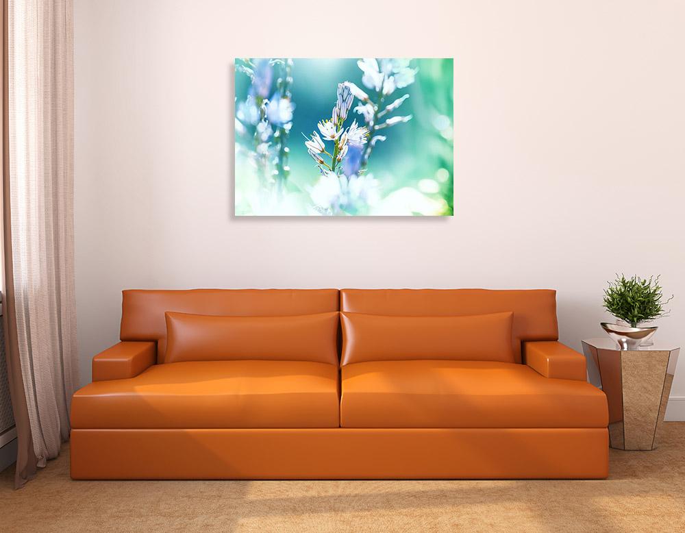 Blue Landscape Print Canvas