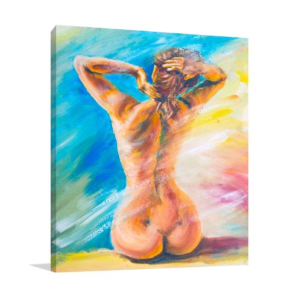 Beautiful Naked Woman Canvas Art