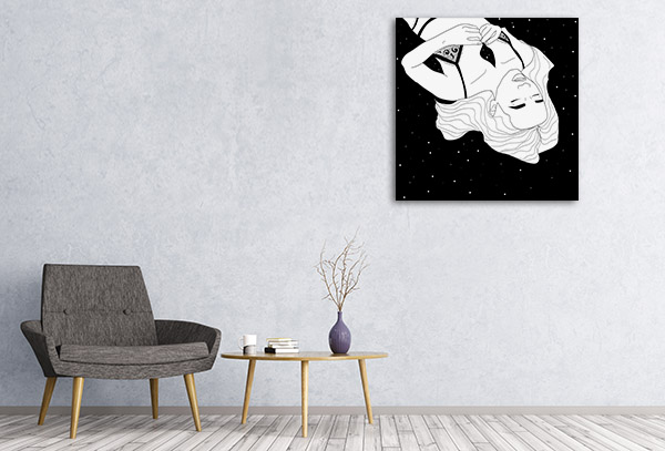 Beauty Cosmos Line Prints Canvas