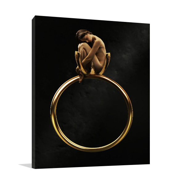 Beauty in Golden Ring Canvas Art