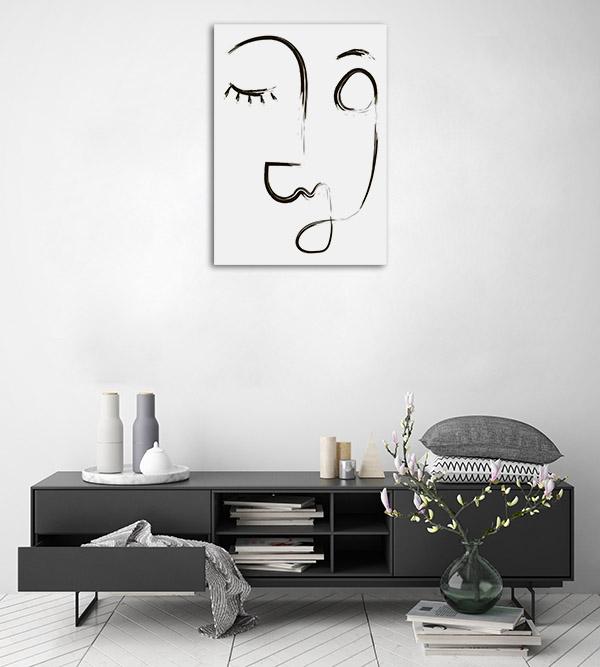 Beauty Line Canvas Artwork
